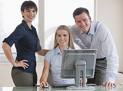 Co-Workers With Computer