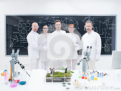 Co-workers in laboratory