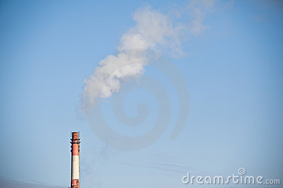 CO2 chimney smoke