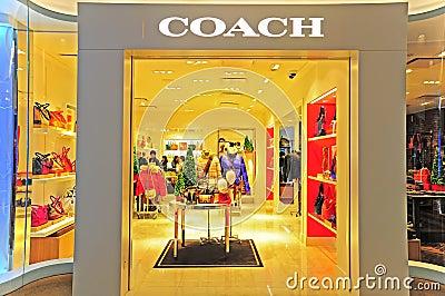 Coach boutique in hong kong Editorial Photography