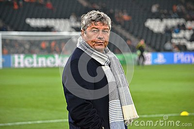 Coach of FC Shakhtar Mircea Lucescu Editorial Photo
