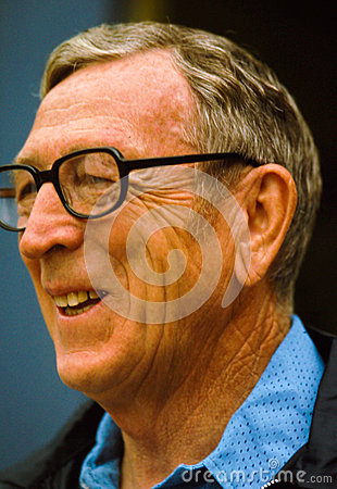 Coach John Wooden Editorial Stock Image