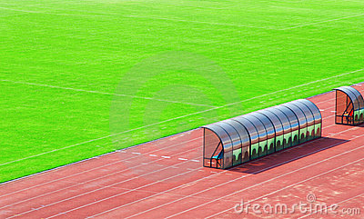 Coach and reserve bench