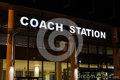 Coach Station illuminated sign