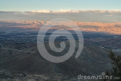 Coachella Valley at Sunset