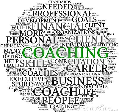 Coaching concept in tag cloud