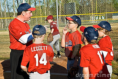 Coaching Little League Baseball Editorial Photo