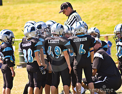 Coaching Little League Football Editorial Stock Image