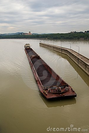 Free Coal Barge At Melk Royalty Free Stock Image - 8364946