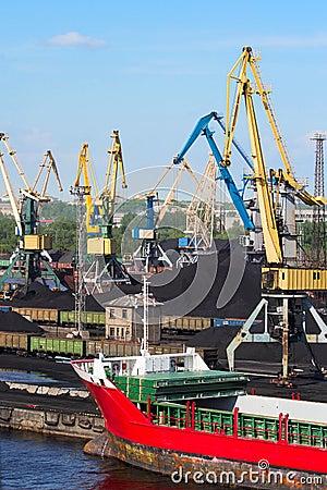 Coal cranes in port