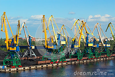 Coal cranes in port