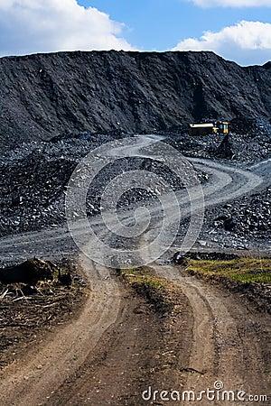 Coal dump and machine