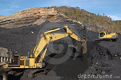 Coal excavating