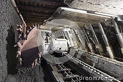 Coal Extraction Coal Mine Excavator Royalty Free Stock