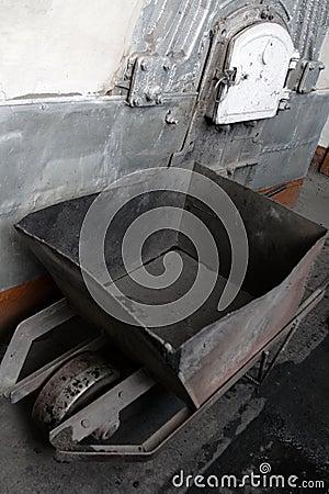 Free Coal Hand Cart Royalty Free Stock Image - 4266206