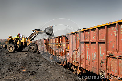Coal Loading Editorial Stock Image
