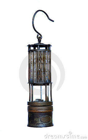 Coal Miners Safety Lantern,Isolated