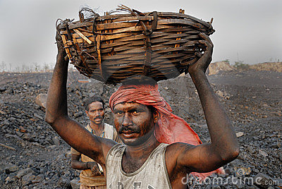 Coal mines in India Editorial Stock Photo