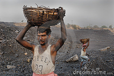 Coal mines in India Editorial Stock Image