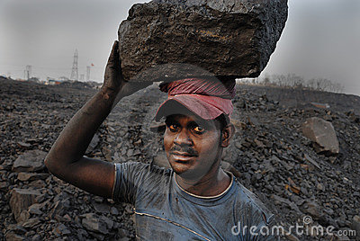 Coal mines in India Editorial Photo