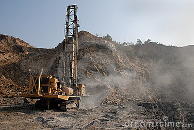 Coal Mining Equipment Editorial Stock Photo