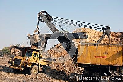 Coal Mining Equipment Editorial Image