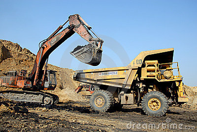 Coal Mining Equipment Editorial Image