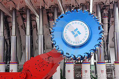 Coal mining machine Editorial Stock Photo