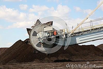 Coal output machine