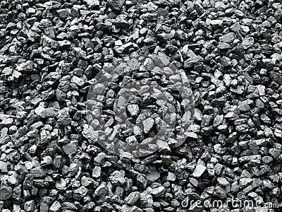 Coal piled up