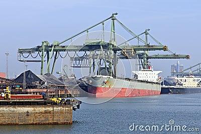 Coal transport ship
