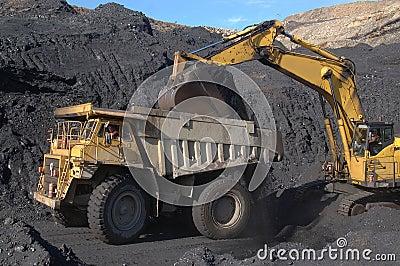 Coal truck loading