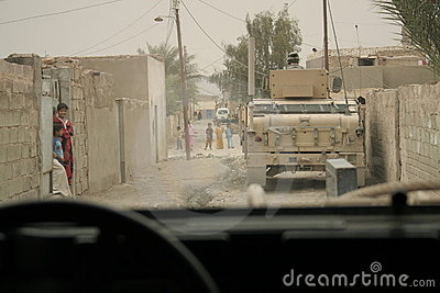 Coalition forces security patrol in Iraq Editorial Photography