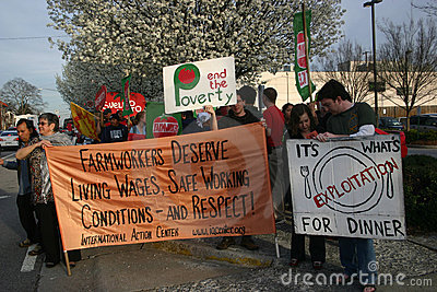 Coalition of Immokalee Workers (CIW) protest Editorial Stock Photo