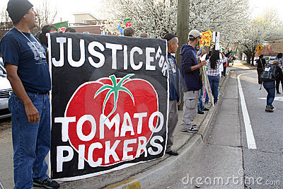 Coalition of Immokalee Workers (CIW) protest Editorial Photo
