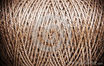 Coarse brown thread spools