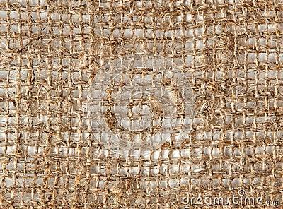 Coarse gray linen natural fabric