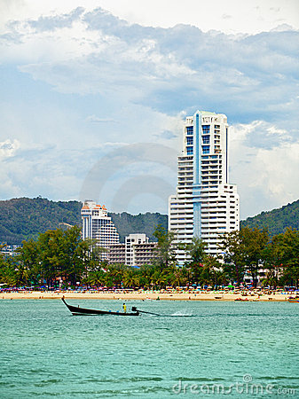 Coast Andaman Sea, beach and hotels