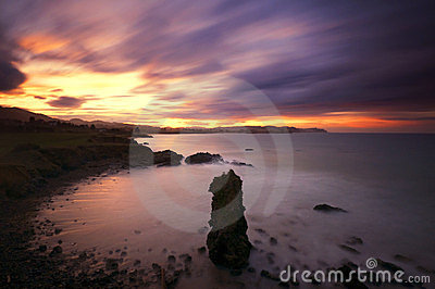 Coast of Asturias at dawn