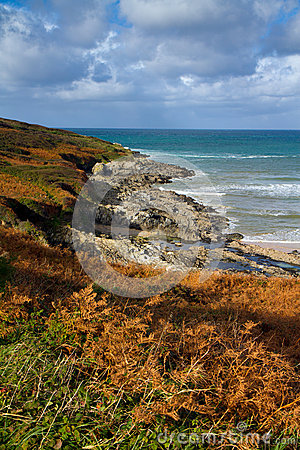 Coast of Cornwall in autumn