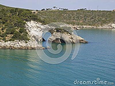 Coast of gargano,apulia,seascape,panorama