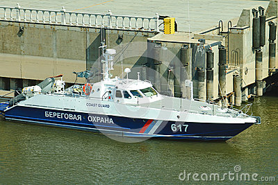 Coast guard boat Editorial Stock Photo