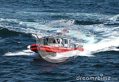 Coast Guard gun ship Editorial Photography