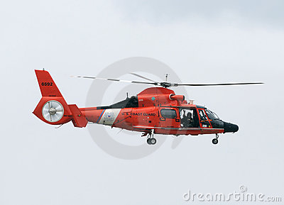 Coast Guard helicopter Editorial Stock Image