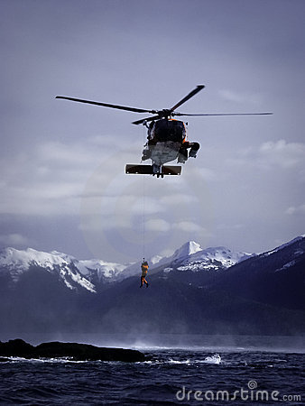 Free Coast Guard Helicopter Operations Stock Photography - 20496822