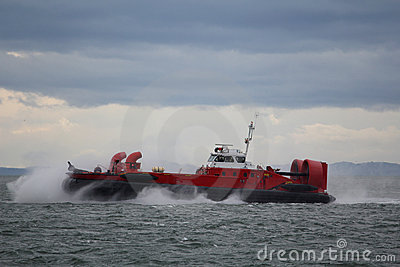Coast Guard Hovercraft on Rescue Mission