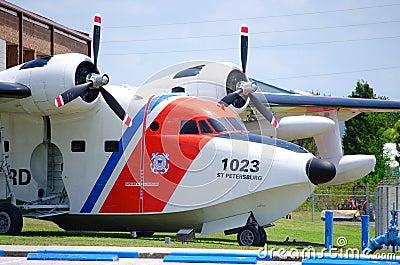 Coast Guard plane closeup Editorial Image