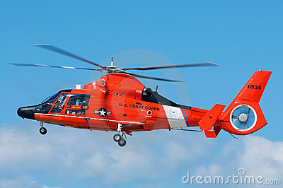 Coast Guard Rescue Helicopter Editorial Photo