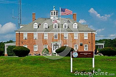 Coast Guard Station at Castle Hill, Newport, RI Editorial Photography