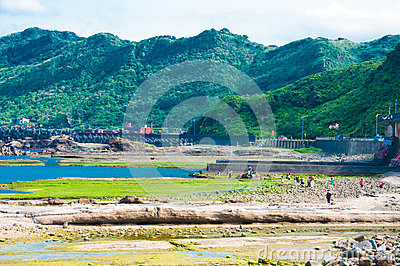 Coast in Keelung Editorial Stock Photo